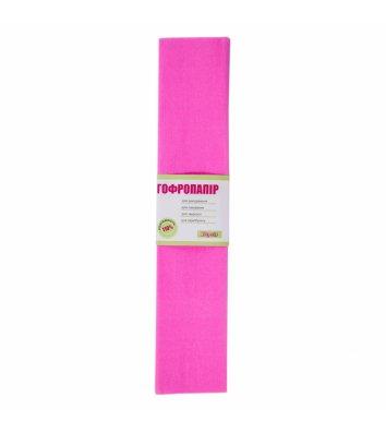 Бумага гофрированная 55% 26,4г/м2 50*200см розовая, 1 Вересня