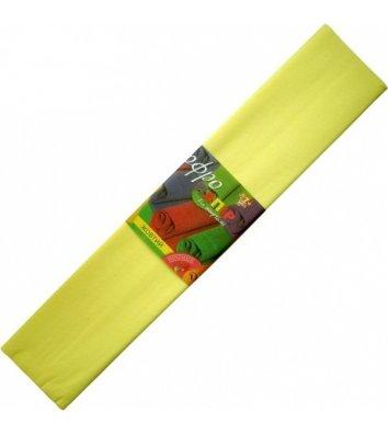 Бумага гофрированная 110% 35,7г/м2 50*200см желтая, 1 Вересня