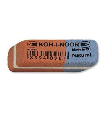 Гумка для олівців та чорнил Blue Star червоно-синя 6521/80, KOH-I-NOOR