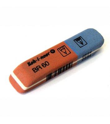 Гумка для олівців та чорнил Blue Star червоно-синя 6521/60, KOH-I-NOOR