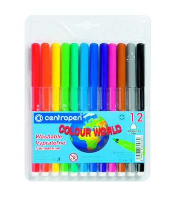 "Фломастеры 12 цветов ""Colour world"", Centropen"
