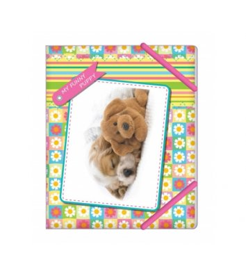 "Папка B5 пластикова на гумках ""My funny puppy"", Cool for School"