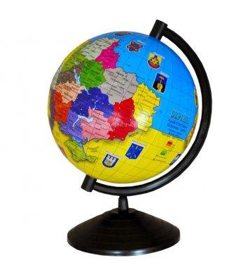Глобус d16см України без підсвічування