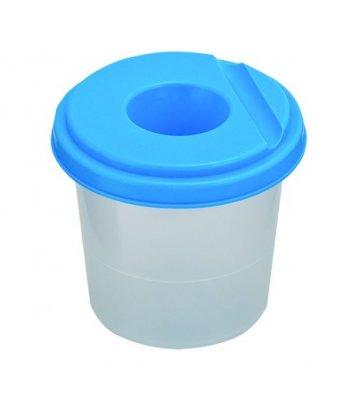 Стакан-непроливайка пластиковий одинарний синій, Zibi
