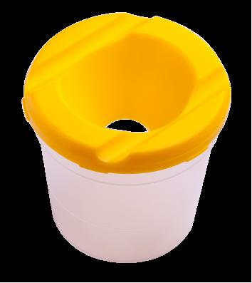 Стакан-непроливайка пластиковий одинарний жовтий, Zibi