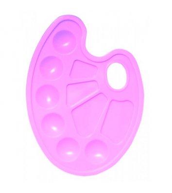 Палитра для рисования пластиковая розовая, Zibi