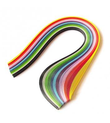 Папір для квілінгу 10*700мм 100 смужок 120г/м2 10 кольорів, Рюкзачок