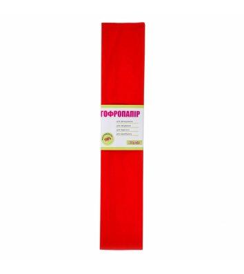 Бумага гофрированная 55% 26,4г/м2 50*200см красная, 1 Вересня