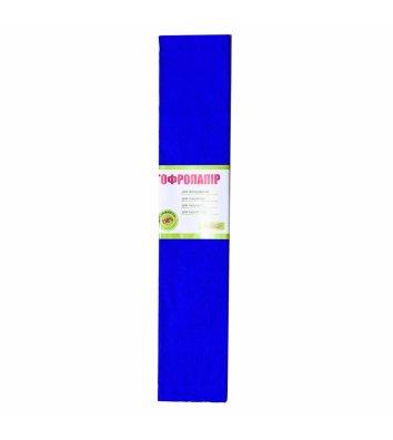 Бумага гофрированная 55% 26,4г/м2 50*200см синяя, 1 Вересня