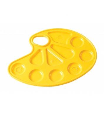 Палітра для малювання пластикова жовта, Zibi
