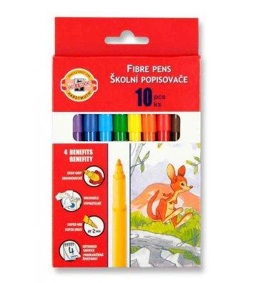 Фломастери 10 кольорів, KOH-I-NOOR