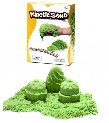 Кинетический песок 2,27кг зеленый, Waba Fun