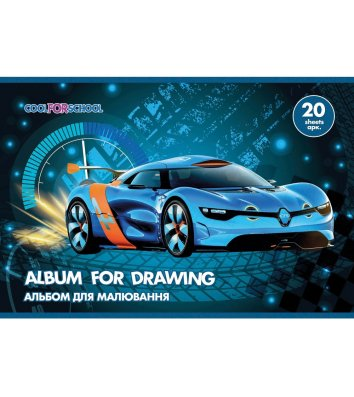 """Альбом для малювання  А4 20арк на пружині """"Speed"""" асорті, Cool for School"""