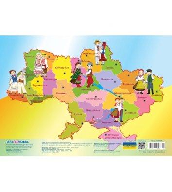 """Коврик для детского творчества А3 пластиковый """"Карта Украины"""", Cool for School"""