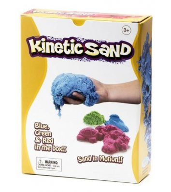 Кинетический песок 2,27кг три цвета - красный, голубой, зеленый, Waba Fun