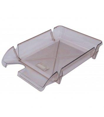Лоток горизонтальний пластиковий димчастий прозорий Компакт, Arnika