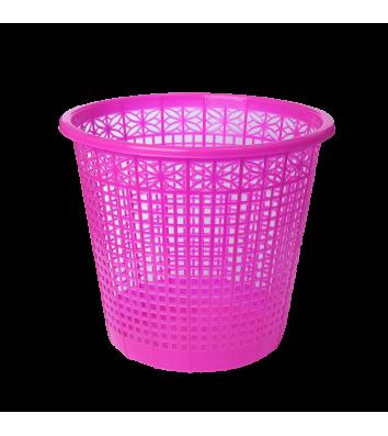 Корзина для мусора пластиковая розовая 8л, Zibi
