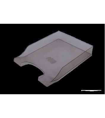 Лоток горизонтальний пластиковий димчастий прозорий Симетрія, Arnika