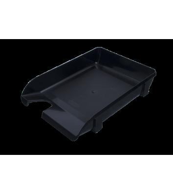Лоток горизонтальний пластиковий чорний непрозорий, Arnika