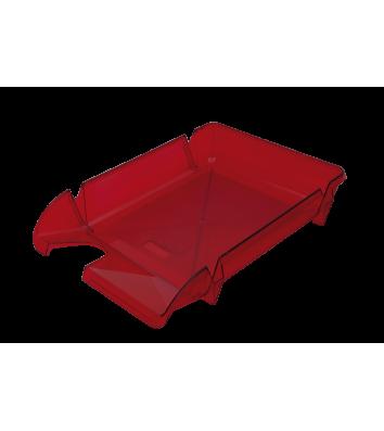 Лоток горизонтальний пластиковий бордовий прозорий Компакт, Arnika