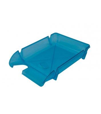 Лоток горизонтальний пластиковий синій прозорий Компакт, Arnika