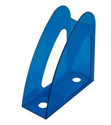 Лоток вертикальний пластиковий блакитний прозорий, Arnika