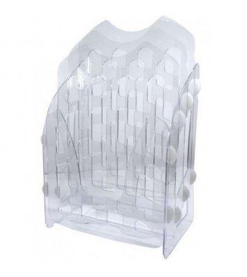 Лоток збірний на 3 відділення пластиковий прозорий,  Arnika