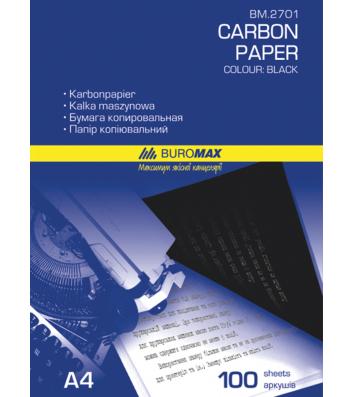 Папір копіювальний А4 100арк чорний, Buromax