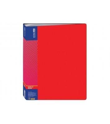 Папка А4 пластикова з 60 файлами червона, Economix