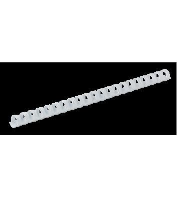 Пружини для брошурування 12мм 100шт пластикові білі, DA