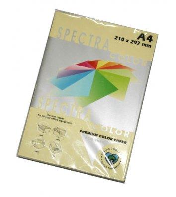 Папір А4  80г/м2 100арк кольоровий Spectra Color, пастель жовтий
