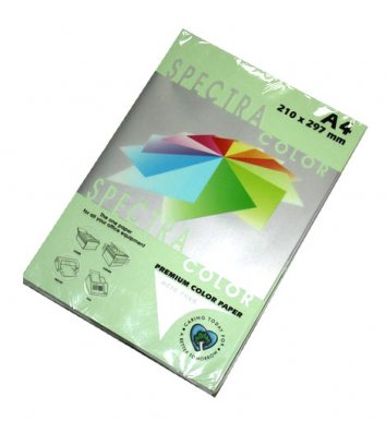 Бумага А4 80г / м2 100л цветная Spectra Color, светло-зеленая