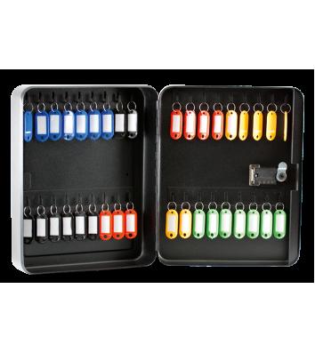 Бокс для ключів на 36 секцій з брелоками з кодовим замком сталевий чорний, Buromax