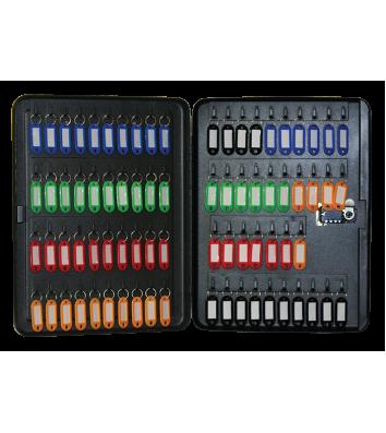 Бокс для ключів на 77 секцій з брелоками з кодовим замком сталевий чорний, Buromax