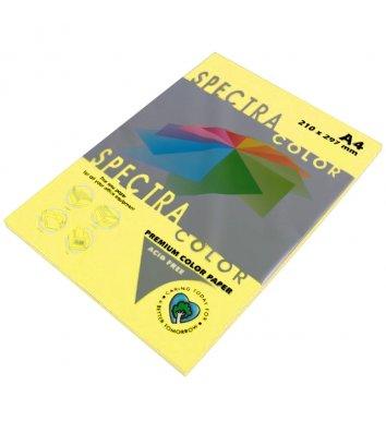 Бумага А4 80г/м2 100л цветная Spectra Color, пастель желтая