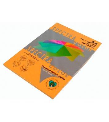 Папір А4  80г/м2 100арк кольоровий Spectra Color, інтенсивний помаранчевий
