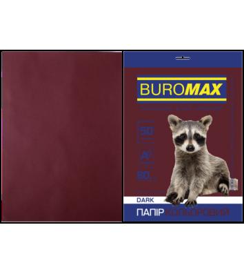 Бумага А4 80г / м2 50л цветная коричневая, Buromax