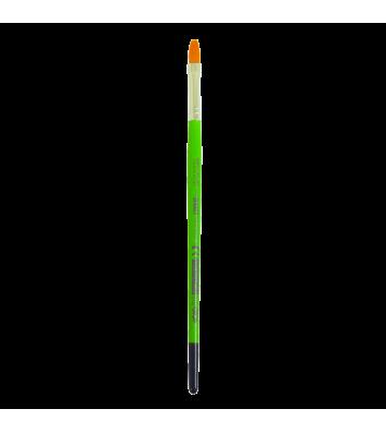 Пензлик №10 синтетика (нейлон) плаский