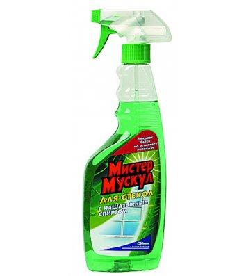 Засіб для скла з розпилювачем  500мл зелений, Містер Мускул