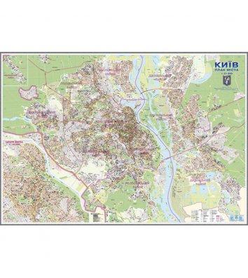 Карта План г.Киев М1:21000, 154*108см, ламинированная с планками