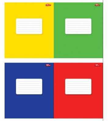 Тетрадь 12 листов линия, обложка нейтральная в ассортименте