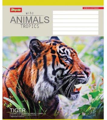 Тетрадь 24 листа линия, обложка Животные в ассортименте