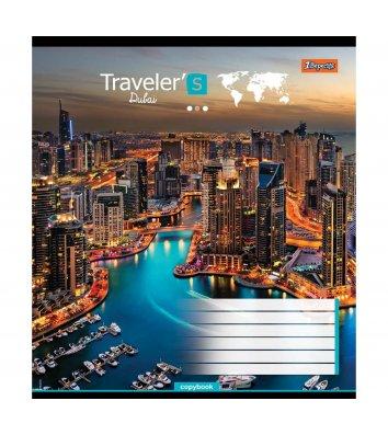 Тетрадь 48 листов линия, обложка Путешествия/Города в ассортименте