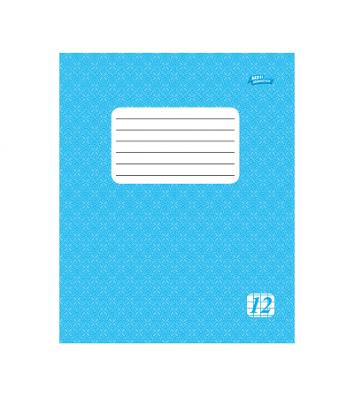 Тетрадь 12 листов клетка эконом, обложка в ассортименте