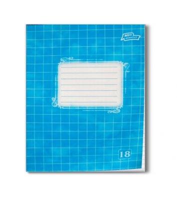 Тетрадь 18 листов клетка эконом, обложка в ассортименте