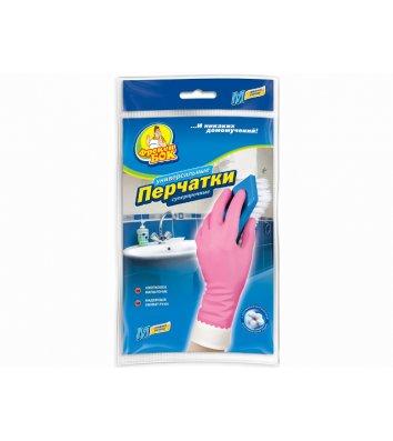 Перчатки резиновые универсальные M крепкие розовые, Фрекен Бок