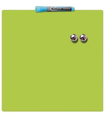 Дошка магнітно-маркерна  36*36см, зелена Quartet, Nobo