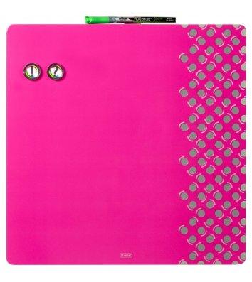 Доска магнитно-маркерная 35,5*35,5см, с комбинированной поверхностью розовая Quartet, Nobo