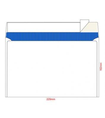 Конверт С5 100шт белый офсет с отрывной лентой