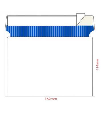 Конверт С6 100шт білий офсет з відривною стрічкою